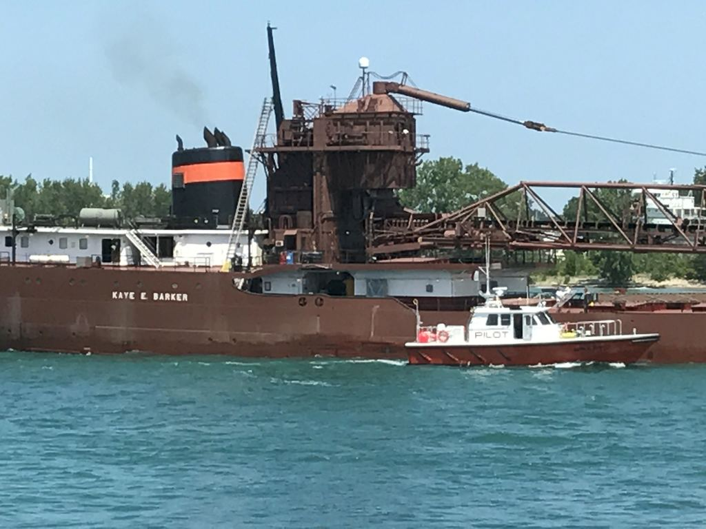 picture of great lakes ship: Kaye E. Barker